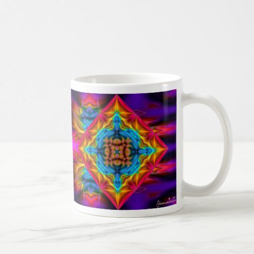 Psychedlic Rainbow Kaleidoscope Mug