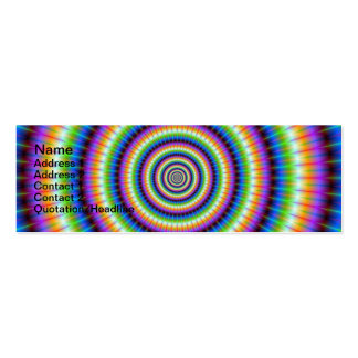 Psychedlic Rings Card Double-Sided Mini Business Cards (Pack Of 20)
