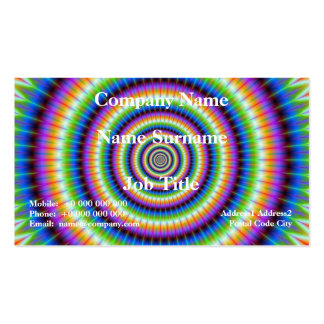 Psychedlic Rings Card Double-Sided Standard Business Cards (Pack Of 100)