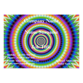 Psychedlic Rings Card Large Business Cards (Pack Of 100)