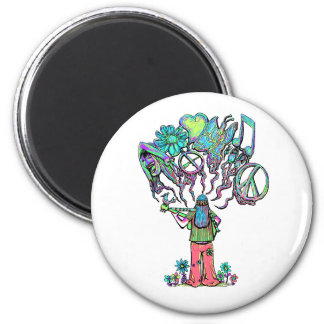 Psychedlic Songs 2 Inch Round Magnet