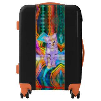 Psycheledic Kitten Matrix Luggage