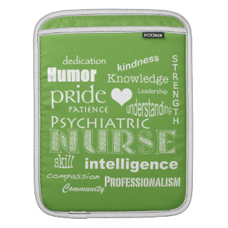 Psychiatric Nurse-Attributes/Lime Green Sleeves For iPads
