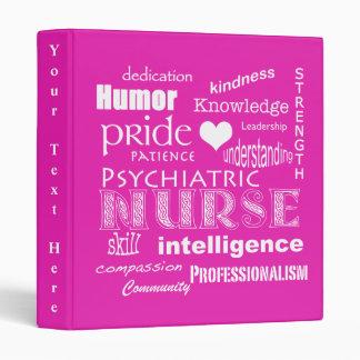 Psychiatric Nurse-Attributes/Pink Binder