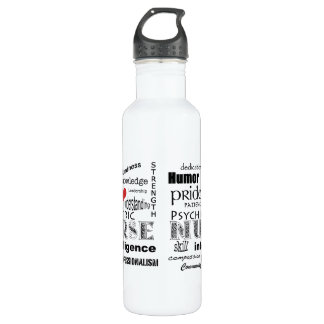 Psychiatric Nurse-Attributes/Red Heart Stainless Steel Water Bottle