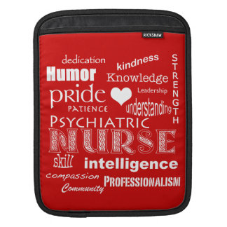 Psychiatric Nurse-Attributes/Tomato Red Sleeves For iPads