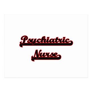 Psychiatric Nurse Classic Job Design Postcard