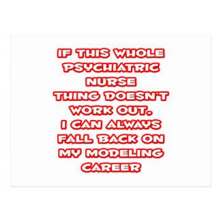 Psychiatric Nurse Humor ... Modeling Career Postcard