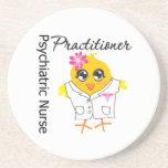 Psychiatric Nurse Practitioner Chick v2 Drink Coaster