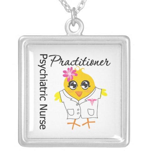 Psychiatric Nurse Practitioner Chick v2 Necklace