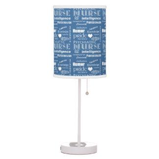 Psychiatric Nurse Pride-Attributes/Blue Desk Lamp