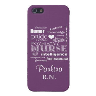 Psychiatric Nurse Pride Attributes+Name-Lavender Case For iPhone SE/5/5s