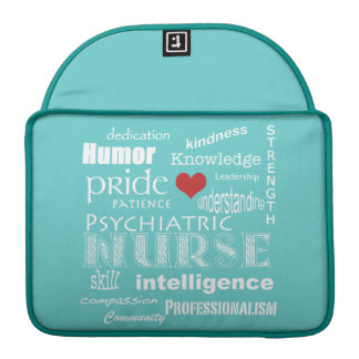 "Psychiatric Nurse Pride-Attributes+Red Heart/13"" Sleeve For MacBooks"