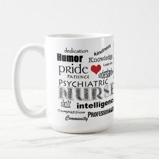 Psychiatric Nurse Pride-Attributes+Red Heart Coffee Mug