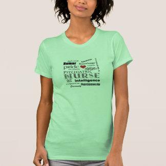 Psychiatric Nurse Pride-Attributes+Red Heart T-Shirt