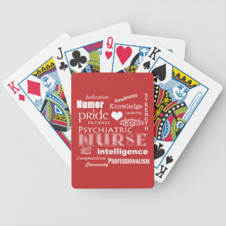 Psychiatric Nurse Pride-Attributes/Tomato Red Bicycle Playing Cards