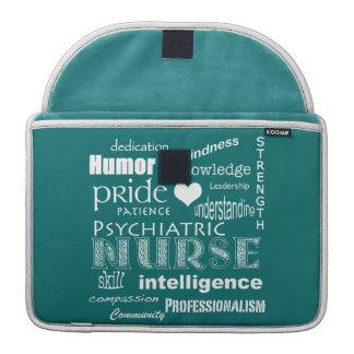 Psychiatric Nurse Pride-Attributes+White Heart Sleeve For MacBook Pro