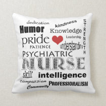 Psychiatric Nurse Pride Heart Throw Pillow