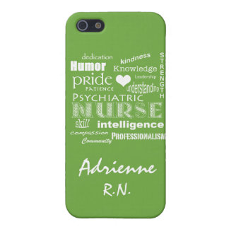 Psychiatric Nurse Pride+Name/Lime Green Case For iPhone SE/5/5s