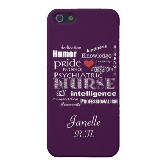 Psychiatric Nurse Pride+Red Heart/Deep Purple iPhone SE/5/5s Case
