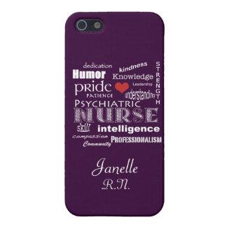 Psychiatric Nurse Pride+Red Heart/Deep Purple iPhone SE/5/5s Case