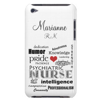 Psychiatric Nurse Pride+Red Heart/Personalize Name Case-Mate iPod Touch Case