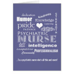Psychiatric Nurse Thank You/ Word Cloud Greeting Cards