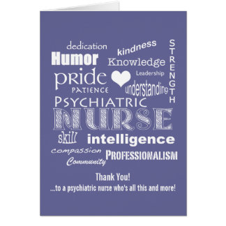 Psychiatric Nurse Thank You/ Word Cloud Card