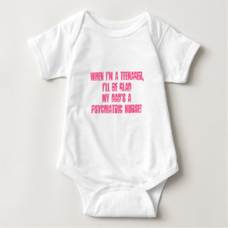 Psychiatric Nurse-Your kids humor! Baby Bodysuit