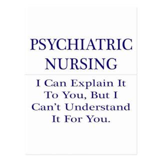 Psychiatric Nursing  .. Explain Not Understand Postcard