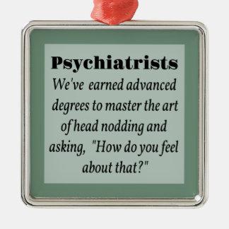Psychiatrisits Adorno Navideño Cuadrado De Metal