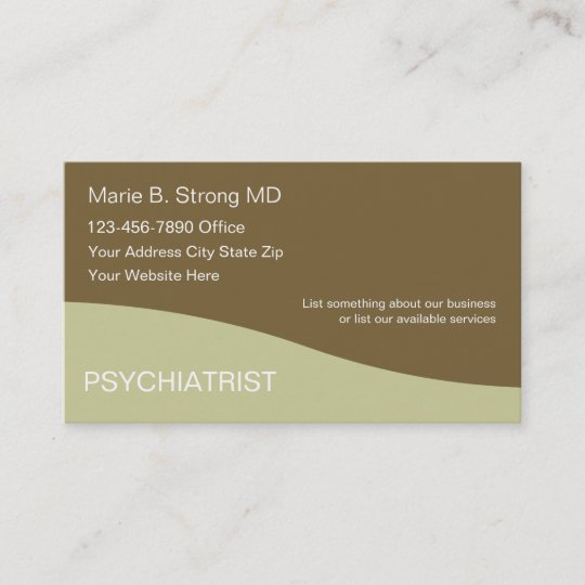 Psychiatrist business cards zazzle psychiatrist business cards colourmoves