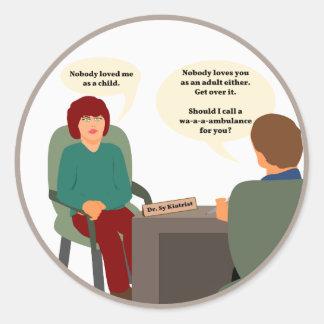 Psychiatrist Calls a Wambulance Classic Round Sticker