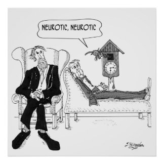 Psychiatrist Cartoon 2199 Poster
