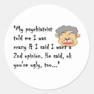 Psychiatrist Classic Round Sticker