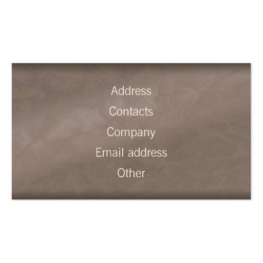 Psychiatrist Doctor Business Card (back side)