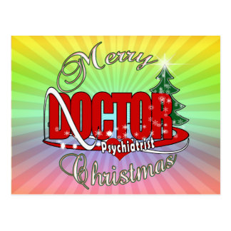 PSYCHIATRIST DOCTOR MERRY CHRISTMAS POSTCARD