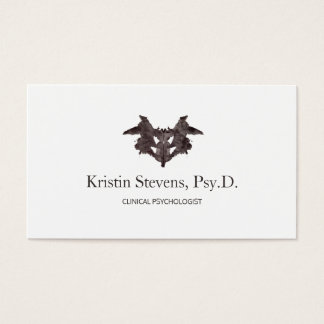 Psychiatrist Ink Blot Appointment Reminder Business Card