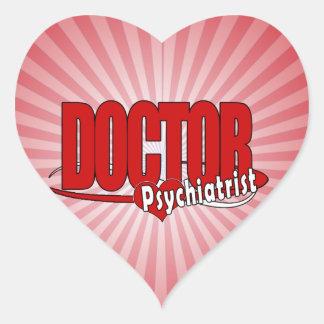 PSYCHIATRIST LOGO BIG RED DOCTOR HEART STICKER