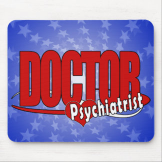 PSYCHIATRIST LOGO BIG RED DOCTOR MOUSE PAD