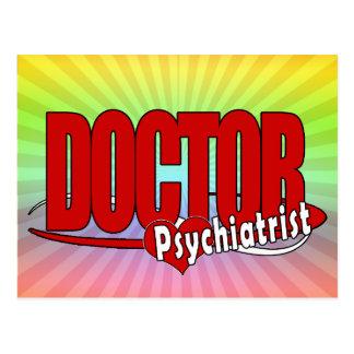 PSYCHIATRIST LOGO BIG RED DOCTOR POSTCARD