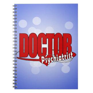 PSYCHIATRIST LOGO BIG RED DOCTOR SPIRAL NOTEBOOK