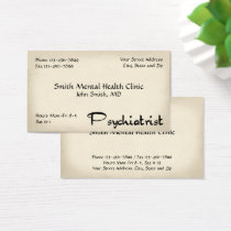 Psychiatrist Mental Health Business Card