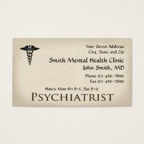Psychiatrist Mental Health Business Card