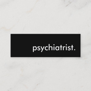 Psychiatrist business cards zazzle psychiatrist mini business card colourmoves