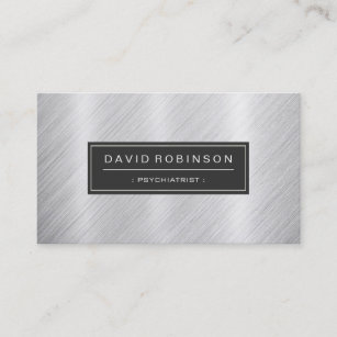 Psychiatry business cards templates zazzle psychiatrist modern brushed metal look business card colourmoves