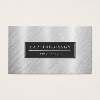 Psychiatrist - Modern Brushed Metal Look Business Card