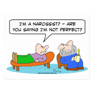 psychiatrist narcissist not perfect postcard