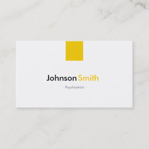 Child psychiatrist business cards zazzle psychiatrist simple amber yellow business card colourmoves