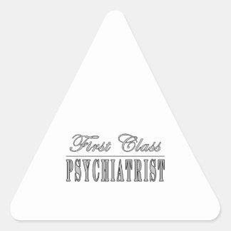 Psychiatrists Psychiatry First Class Psychiatrist Triangle Sticker